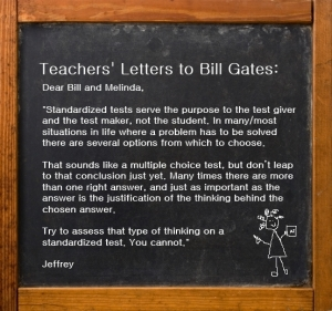 Teachers Letters to Bill Gates - Jeffrey