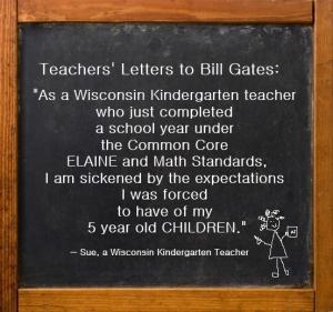 Teachers Letters to Bill Gates - Sue, Wisconsin Kindergarten