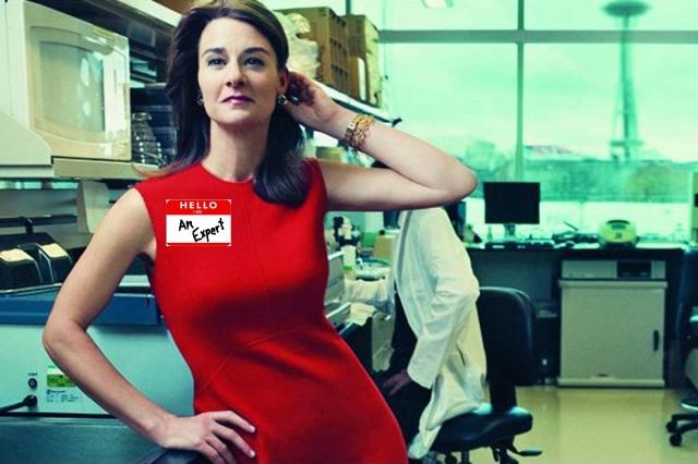 Melinda Gates Hello I'm an Expert
